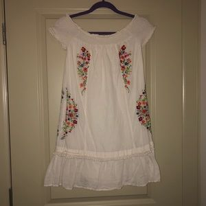 Anthropologie embroidered summer dress